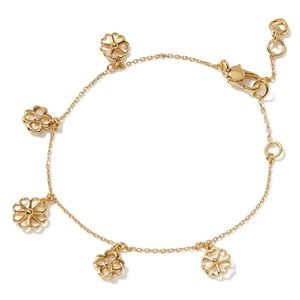 $78 Kate Spade spade floral charm bracelet